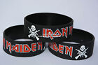 "IRON MAIDEN Silicone 1"" Wide Filled in Colour Wristband Bracelet"