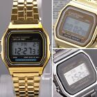 Mens Unisex Vintage Digital LCD Display Sport Watch WristWatches Metal Classic