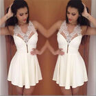 Women Summer Sexy White BodyCon Bandage Party Evening Cocktail Short Dress XS~L
