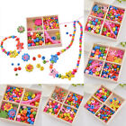 Wooden Beads Necklace Bracelet Kids Bubblegum DIY Creative Educational Crafts