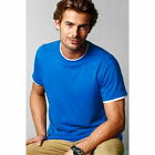 MENS ROUND NECK PLAIN T-SHIRT IN  WHITE,BLACK OR BLUE SIZES S TO 6XL BRAND NEW