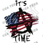 """IT'S TIME"" T-Shirt- SIZE LARGE - OBAMA LIBERAL TEA PARTY BENGHAZI IRS"