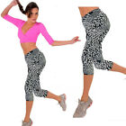 Leisure High Waist Fitness YOGA Sport pants Printed Stretch Cropped Leggings Hot