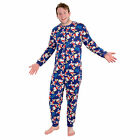 Disney Mens 100% Grumpy Dwarf Onesie Pyjamas Pjs All In One Adult Nightwear