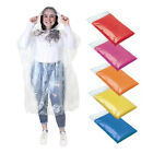 10 x Disposable Emergency Waterproof Rain Coat Poncho Hiking Camping Fishing