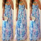 Hot Sexy Women Summer Boho Long Maxi Evening Party Dress Beach Dresses Sundress