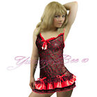 Sexy Lingerie Nightwear Babydoll Dress Womens Plus Size 8-24 Sleepwear Underwear