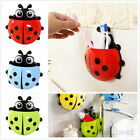 New Ladybug Toothbrush Stuff Wall-Mounted Suction Holder Hanger Sucker Box Case