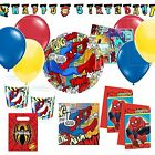 Ultimate Spiderman Superhero Birthday Party Kits Plates Party Bags Balloons!