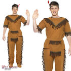 FANCY DRESS COSTUME # MENS WILD WEST INDIAN BRAVE CHIEF COSTUME 38-44