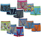 6 or 12 Pairs Boys Cotton Rich Designer Boxer Shorts Trunks Underwear 2-13 years