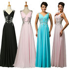 Sexy V Neck Chiffon 1950s Masquerade Cocktail Evening Ball gowns Long Prom Dress