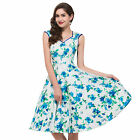 GK Housewife Vintage Retro 40's 50's Style Swing Pinup EVENING Dress