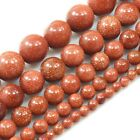 """GoldStone Round Beads 15"""" 4, 6, 8, 10, 12mm pick your size"""