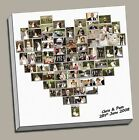 "PERSONALISED HEART SHAPED PHOTO COLLAGEFRAMED CANVAS PRINT XL UP TO 30""x30"""