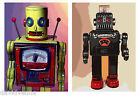 Two Space Robot High quality Poster Prints on Archival Matte Paper David Venne
