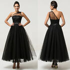 New TEA LENGTH Prom Dress Masquerade bridesmaid wedding formal gowns Rockabilly