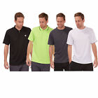 Mens Cool Dry Breathable Running Shirt Top T-Shirt Gym Training Polo Sports Tee