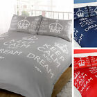 Keep Calm and Dream Duvet Cover with Pillow Case Quilt Cover Bedding Set