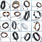 16 CHIOCES Unisex Punk Woven Hemp Surfer Tribal Leather Bracelet Wristband Cuff