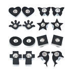 1Pair Stylish Mens Womens Crystal Black Clip On Magnetic Stud Earrings