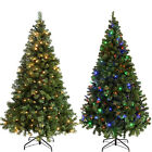 Emerald Green Spruce Pre-Lit Christmas Tree Warm Colour LED Lights 4ft 6ft 7ft
