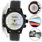 AW802F LED Alarm BackLight Water Resist Boy Girl Dual Time Alexis Anadigit Watch