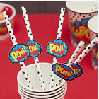 Superhero Boys Birthday Party Paper Straws - select your style!!!