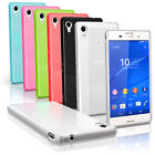 Glossy TPU Gel Case for Sony Xperia M4 Aqua 2015 E2303 Skin Cover + Screen Prot