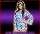 ***SALE*** Fancy Dress Costume # Ladies 70's Hippy Blue Psychedelic Babe 12-18