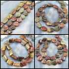 """Natural Picasso Jasper Beads 15"""", coin, rectangle, oval, pick your style"""