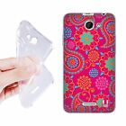 HEAD CASE PSYCHEDELIC PAISLEY SOFT GEL CASE FOR HTC DESIRE 516 DUAL