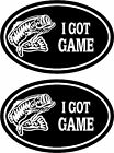 2 i GOT GAME .. Fishing Hunting Bass Deer Walleye truck vinyl decals stickers