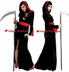 Lady Death Vampire Priestess Elvira Witch Fancy Dress Costume - 10 12 14 16 18