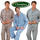 Mens Champion Paisley Brushed Cotton Pyjama Set Sizes S up to 3XL