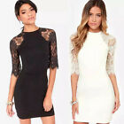 Fashion New Lace Dress Womens Slim Bodycon Party Sexy Cocktail Mini Dress S/M/L