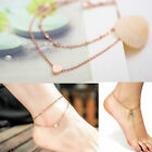 Sexy Simple Women Anklet Chain Bracelet Leaf Bead Adjustable Chain Foot Jewelry