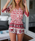 New Womens Red Elephant Pattern Loose Clubwear Sexy PlaysuitsJumpsuit Pant Party