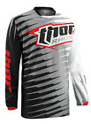 Thor Grey/Black/Red/White Phase Vented Rift Dirt Bike Mens & Youth Jersey MX ATV