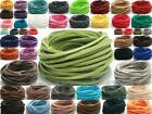 Внешний вид - Faux Suede Flat Leather Cord Rope Lace 45clrs Bead Jewelry Crafts DIY 3mm 2-10m