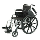 "Compass Health  Lightweight 20"" Wheelchair,  Flip Back Arm  Choose Your Footrest"