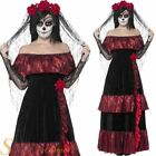 Ladies Deluxe Day Of The Dead Bride Halloween Fancy Dress Costume Adult Outfit