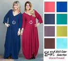 OH MY GAUZE Cotton BELLA Long Balloon Hem Dress OSFM M/L/XL/1X  2015 DISC COLORS