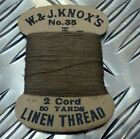 Genuine Vintage No.35 Linen Thread 2 Cord 50 Yards W & J.Knox's Scotland - NEW