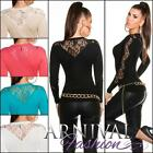 NEW SEXY WOMENS FASHION v-neck LACY JUMPERS ladies KNIT TOP SWEATER shop online
