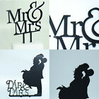 Mr & Mrs Romantic Silhouette Personalised Acrylic Cake Decor Wedding Cake Topper