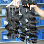 Three Part Lace Closure With 3 Bundles Brazilian Virgin 100% Hair Body Wave