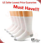long sports socks - 3,6,12 Pairs CREW Mens Solid Sports Socks Cotton 9-11 10-13 White LOT USA LONG