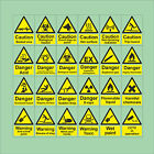 Photoluminescent Glow In The Dark Hazard CCTV Semi-Rigid Plastic Signs 4 Sizes