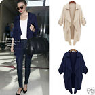 Women's Casual Slim Blazer Jacket Long Sleeve Trench Coat Cardigan Outerwear Top
